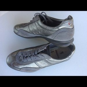 ECCO Leather Suede Sneakers Walking Size 38